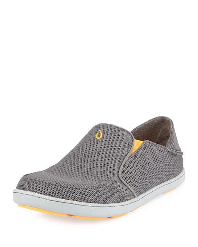 Nohea Mesh Slip-On/Fold-Back Sneaker, Dark Gray