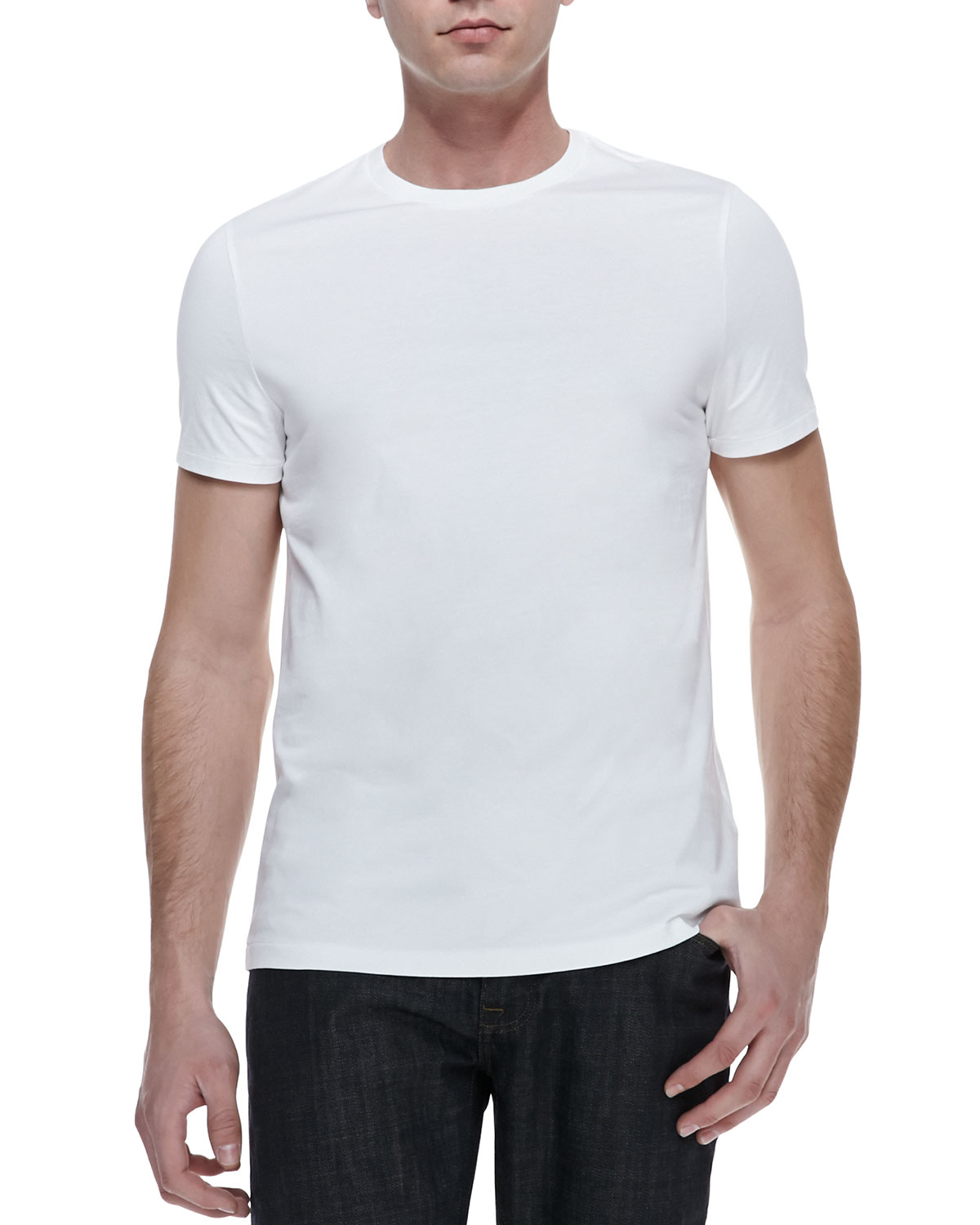 Basic Short-Sleeve T-Shirt, White