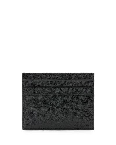 Saffiano Card Case, Black