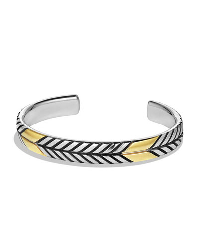 Chevron Cuff Bracelet with Gold