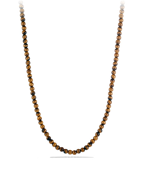 David Yurman Men's Spiritual Bead Necklace with Tiger's Eye