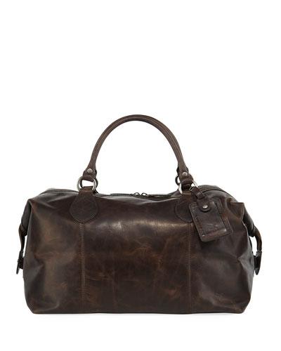 Logan Men's Leather Overnight Bag, Dark Brown