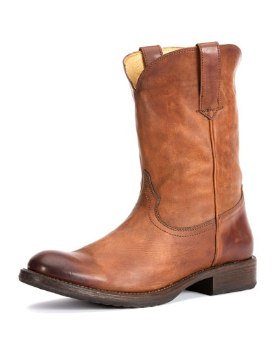 Men's Duke Leather Roper Boot, Tan