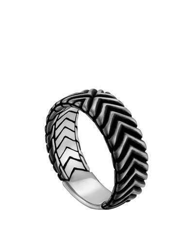 Men's Bedeg Triangle Line Pattern Band Ring