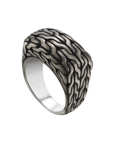 Men's Classic Chain Signet Ring