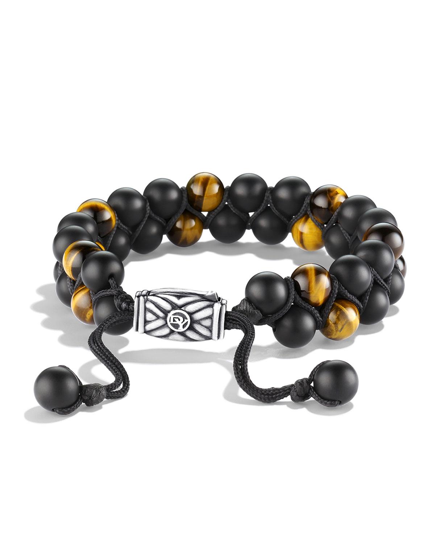 Men's Spiritual Beads Bracelet with Black Onyx and Tiger's Eye