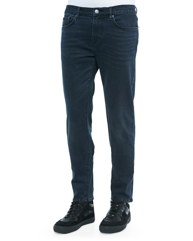 Clean-Wash Denim Jeans, Indigo