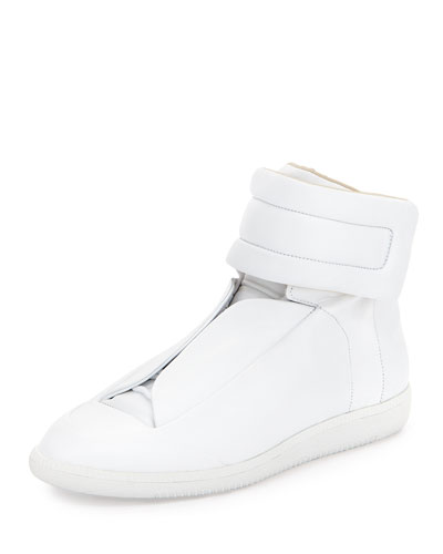 Future Leather High-Top Sneaker, White