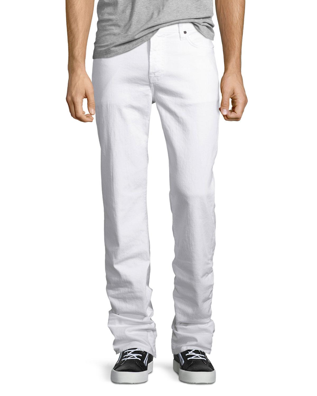 Standard Clean White Jeans, White