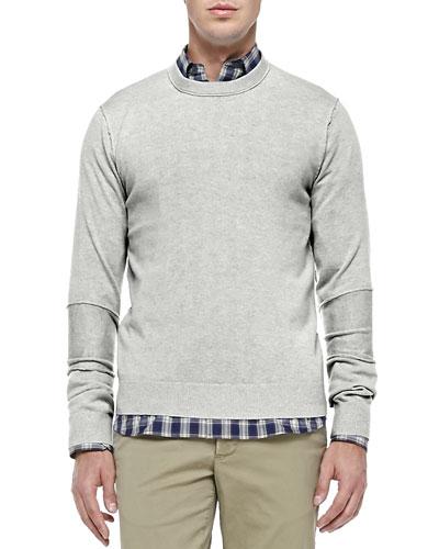 Cashmere Raw-Seam Sweater