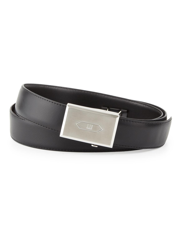 Logo Leather Belt, Black