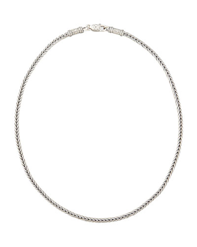 Men's Sterling Silver Chain Necklace, 24