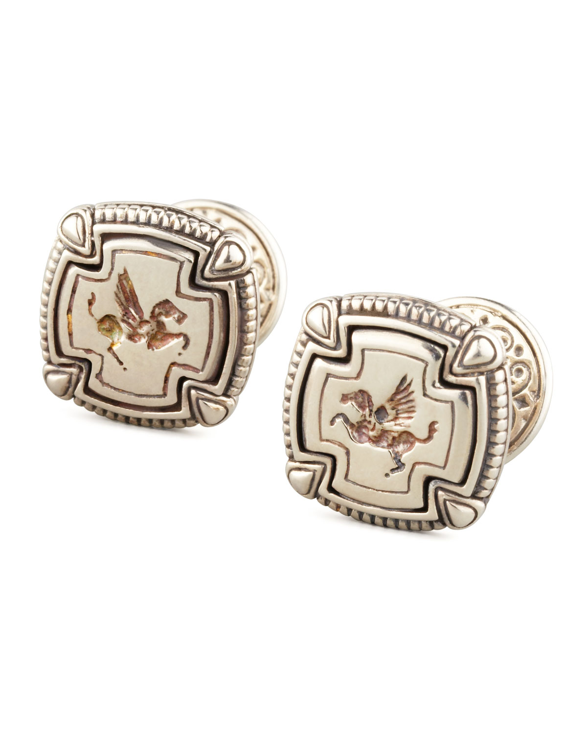 Pegasus Carved Silver Cuff Links