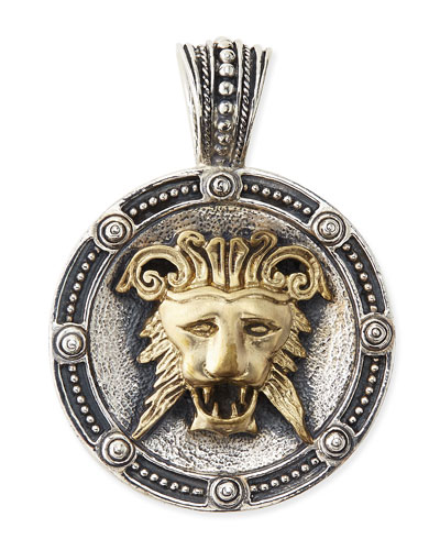 Men's Myrmidones Round Lion-Face Pendant