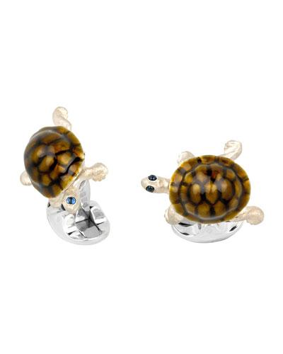 DEAKIN & FRANCIS Walking Tortoise Cuff Links in Brown