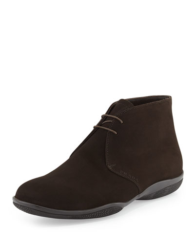 Suede Sport-Sole Chukka, Brown