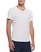 Jersey V-Neck T-Shirt, White