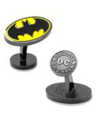 Batman Bat-Signal Enamel Cuff Links