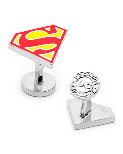 Superman Shield Enamel Cuff Links
