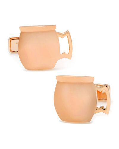 Moscow Mule Copper Cup Cuff Links