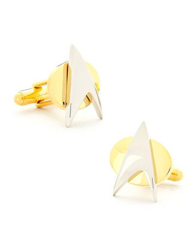 Star Trek Delta Shield Cuff Links