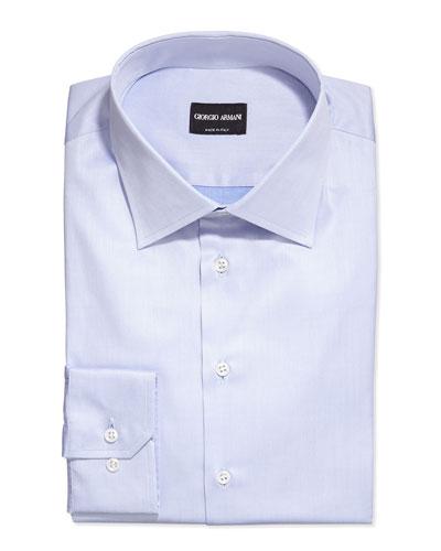 Basic Woven Dress Shirt, Light Blue