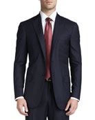 Solid Wool Suit, Navy