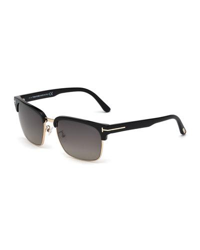 River Sunglasses, Black/Rose Gold