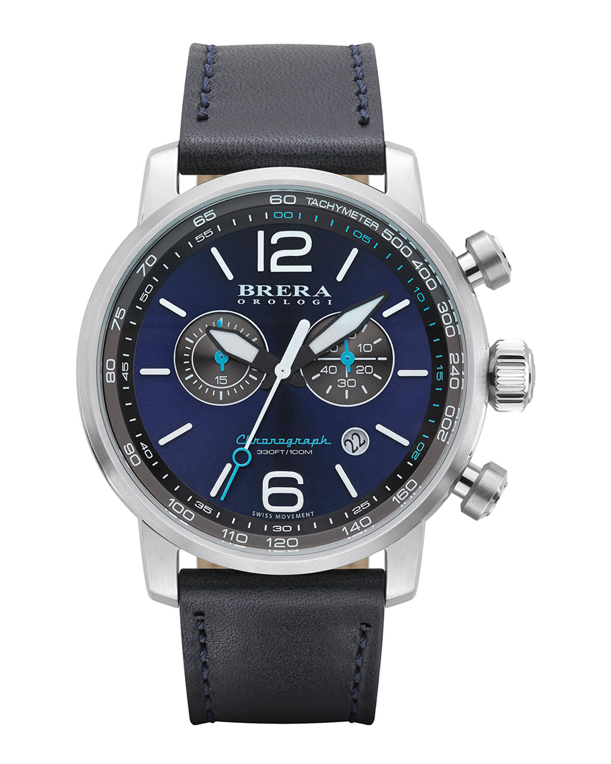 Dinamico Chronograph Watch, Stainless Steel/Navy