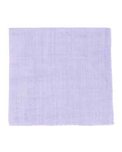 Linen Pocket Square, Lilac