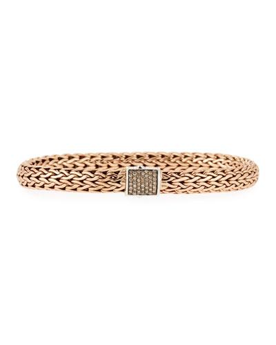 Men's Classic Chain Diamond Pave Chain Bracelet