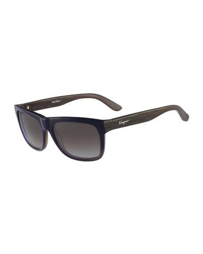 Square Plastic Polarized Sunglasses