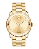 42.5mm Gold IP Stainless Steel Watch