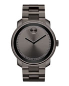 42.5mm Gunmetal Stainless Steel Watch