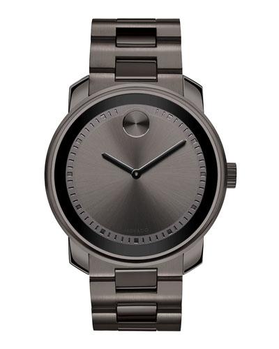 42.5mm Gunmetal Stainless Steel Watch