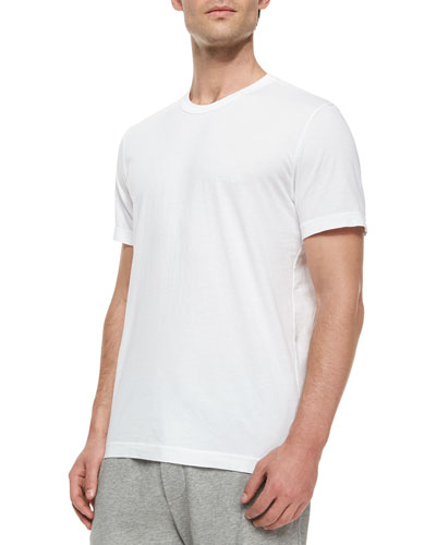 Crewneck Knit T-Shirt, White