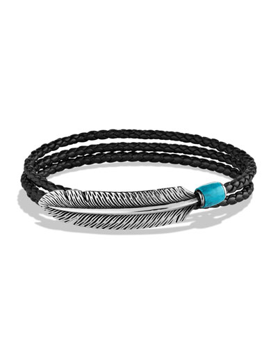 Southwest Feather Wrap Bracelet
