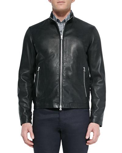 Basic Leather Jacket, Black