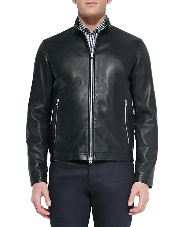 Men's Morvek Zip-Front Leather Jacket