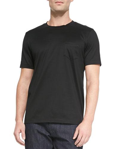 Gancini Crewneck T-Shirt, Black