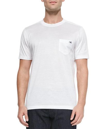 Gancini Crewneck T-Shirt, White