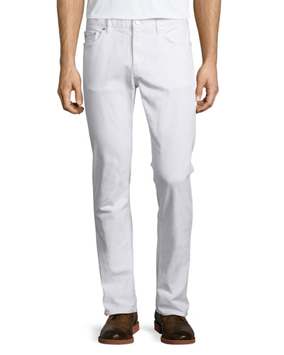 Tailored-Fit Jeans, White