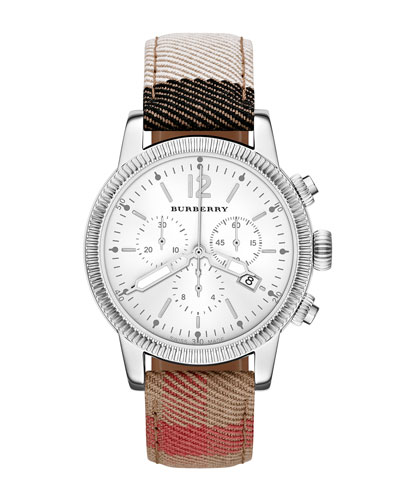 42mm Check-Strap Chrono Watch