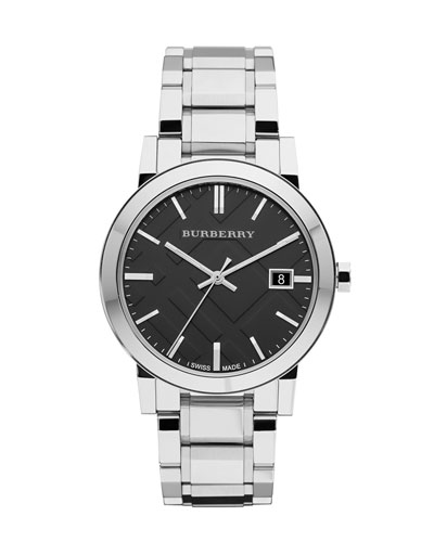 Check-Dial Stainless Steel Watch