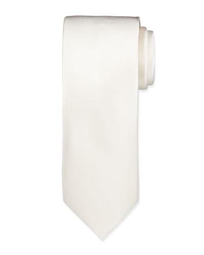 Solid Silk Satin Tie