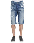 Ricky Distressed 5-Pocket Denim Shorts