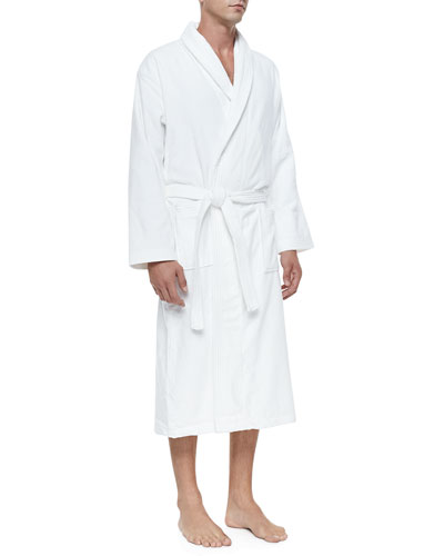 Terry Cloth Robe, White