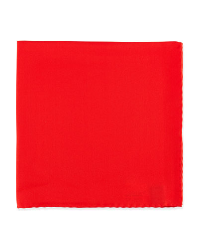 Silk Pocket Square, Red