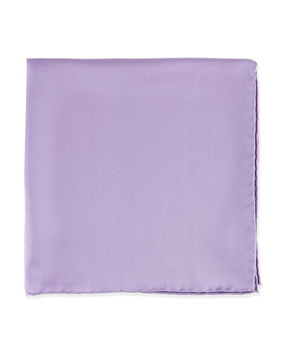 Silk Pocket Square, Lavender