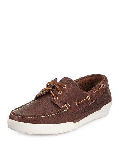 Men's USA Bison Mount Desert Shoe, Chocolate